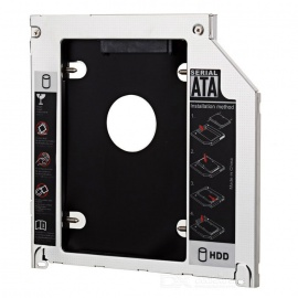 "2.5"" SATA per HDD SATA caddy per MacBook Pro + di più - argento + nero"