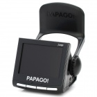 "PAPAGO P0 1 / 3.2""CMOS 5.0MP amplo ângulo carro DVR filmadora w / HDMI / SD / mini USB (2.4"" lcd)"