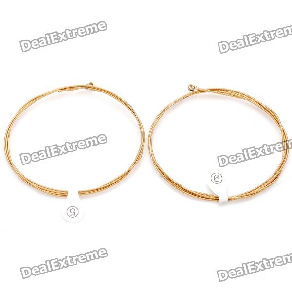 ziko acoustic guitar strings golden silver free shipping dealextreme. Black Bedroom Furniture Sets. Home Design Ideas