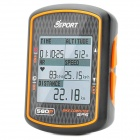 Genuine Gssport GB-580P GPS Bike Cycling Computer Speedometer - Black + Orange