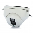 1/3 SONY CCD Surveillance Security Camera w/ 1-LED IR Night Vision - White (6mm/NTSC)