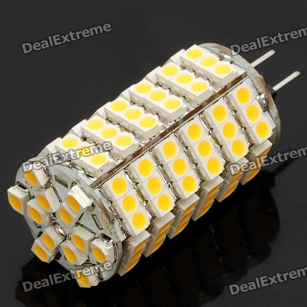 G4 7W 3500K 550-Lumen 120-3528 SMD LED Warm White Light Bulb (DC 12V) 3156 12w 600lm osram 4 smd 7060 led white light car bulb dc 12v