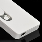 USB Rechargeable Electronic Cigarette Lighter w/ White LED Light - White