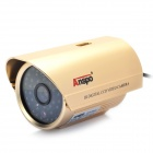 1/3 CCD Surveillance Security Camera w/ 48-LED IR Night Vision - Gold (8mm / NTSC / DC 12V)
