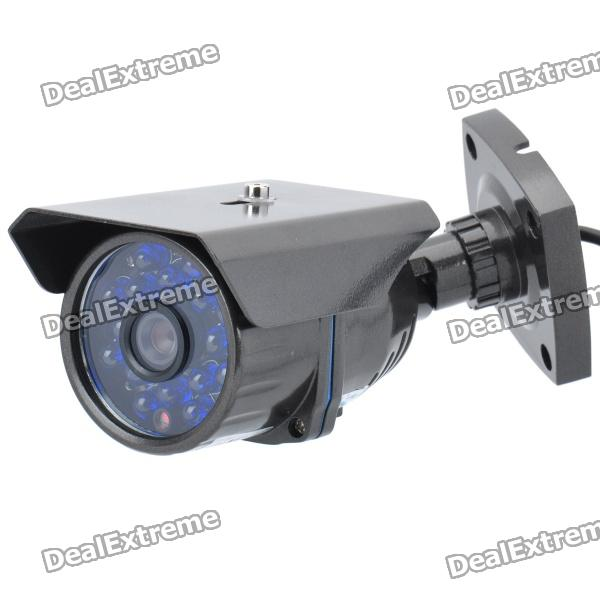 848H8 1/3 CCD Surveillance Security Camera with 16-IR LED - Grey (NTSC / 40 Degrees) 8 led hd color image car backup parkingcamera reverse rear view cameras with night vision waterproof with parking line dc 12v