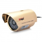 1/3 CCD Surveillance Security Camera w/ 48-LED IR Night Vision - Gold (6mm / NTSC / DC 12V)