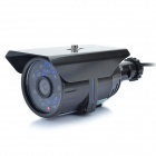 1/3 CCD Surveillance Security Camera w/ 16-LED IR Night Vision - Dark Grey (6mm / NTSC)