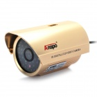 1/3 SONY CCD Surveillance Security Camera w/ 48-LED IR Night Vision - Gold (8mm / NTSC / DC 12V)