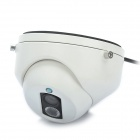 1/3 CCD Surveillance Security Camera w/ 1-LED IR Night Vision - White (8mm/NTSC)
