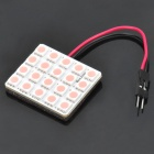 T10 3.6W 20x5050-SMD LED Pink Light Car Reading / Dome Lamp (DC 12V)