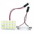 T10 / BA9S 0.18Wx15 White Light 15-SMD 5050 LED Auto Leseleuchte (DC 12V)