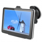 "7.0"" Touch Screen WinCE 6.0 MTK3351 GPS Navigator with FM / 4GB TF Card w/ Brazil Map - Black"