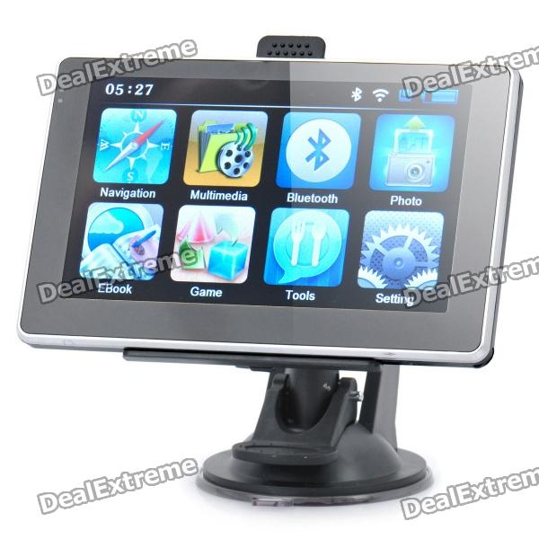 5.0 Touch Screen WinCE 6.0 MTK3351 GPS Navigator w/ Bluetooth / FM / 4GB TF Card w/ Europe Map блузка cuseberry