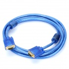 Gold-plated VGA Male to Male Connection Cable - Transparent Blue (3m)