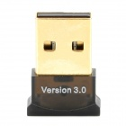 Mini Bluetooth V3.0 USB Dongle Adapter - Black 