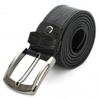 PouchKan Stylish Cow Leather Men's Belt w/ Zinc Alloy Buckle - Black