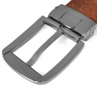 PouchKan Stylish Cow Leather Men's Belt w/ Zinc Alloy Buckle - Deep Coffee