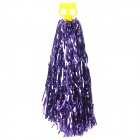 Metallic Color Cheerleader Pom-pon w/ Plastic Handle - Purple