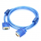 Gold-plated VGA Male to Male Connection Cable - Translucent Blue (1.5m)
