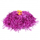 Metallic Color Cheerleader Pom Poms w/ Plastic Handle - Deep Pink