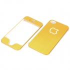 Ultra-dünne Schutzschicht Aluminum Alloy Front + Back Covers für iPhone 4S - Golden