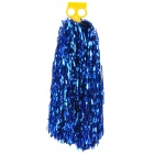 Metallic Color Cheerleader Pom-pon w/ Plastic Handle - Blue