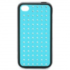Fashion Protective Back Case for iPhone 4 / 4S - Blue + Black