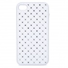 Fashion Protective Back Case for iPhone 4 / 4S - White