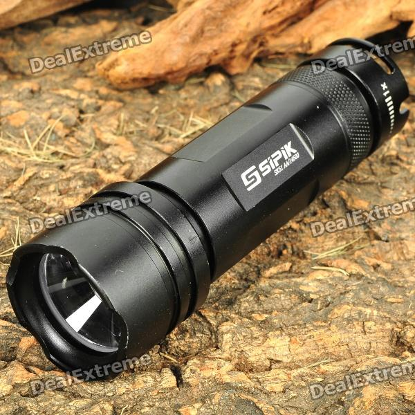 SIPIK SK51 3-Mode 250LM White Zoom Convex Lens LED Flashlight w/ Strap (1 x AA / 14500)