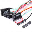 DIY Desktop Power Button Switch Module for PC - Black + Red (140cm-Cable)