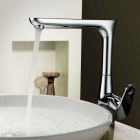 Chrome Finish Copper Kitchen Faucet Water Tap
