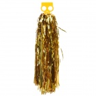 Metallic Color Cheerleader Pom Poms w/ Plastic Handle - Golden