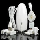 2-in-1 USB AC / Car Charger w/ Adapters for Cell Phone + More - White