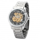 OUBEIER Men's Stainless Steel Self-Winding Mechanical Skeleton Wrist Watch