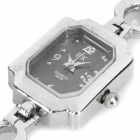 Stylish Lady's Bracelet Style Quartz Wrist Watch - Silver (1 x 377)