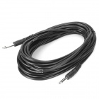 6.35mm Male to 6.35mm Male Audio Cable - Black (10 Meters)