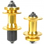 QUANDO Sealed Bearing Hubs w/ Quick Release Skewers for Mountain Bike - Golden (Pair)