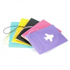 PU Leather Passport Holder with Card Slot (Random Color)