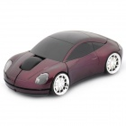 Car Style 2.4GHz Wireless 1600DPI Optical Mouse w/ Receiver - Deep Purple (2 x AAA)