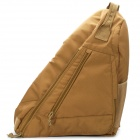 Oxford Fabric Tactical Single Shoulder Strap Triangle Backpack - Light Brown