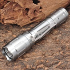NEW-A20 3-Mode 320LM White LED Tactical Flashlight w/ Clip / Strap (1 x 18650) - Silver
