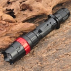 NEW-H50 Cree Q5 3-Mode 370LM White LED Waterproof Zoom Flashlight w/ Clip - Black + Red (1 x 18650)