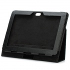 "Protective PU Leather Case for ASUS Transformer Prime TF201 & Other 10.1"" Tablet - Black"