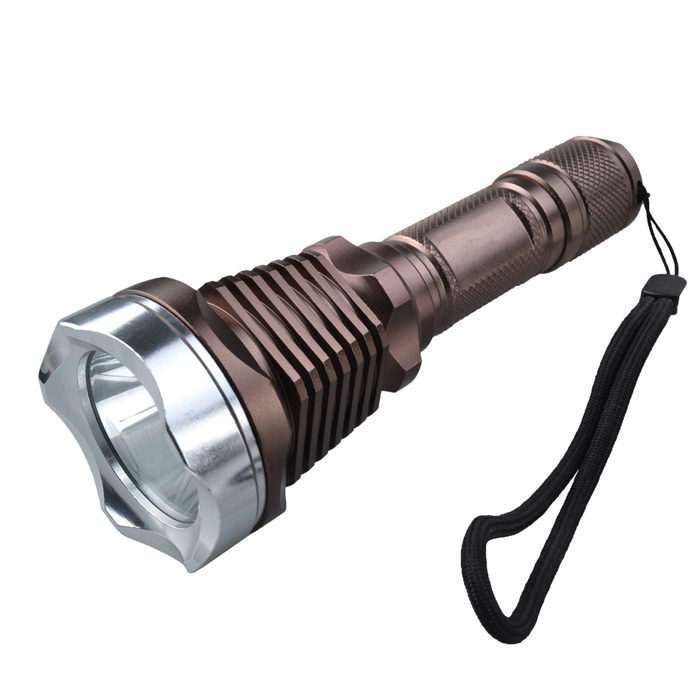 NEW-128 5-Mode 950LM White LED Flashlight w/ Strap (1 x 18650)