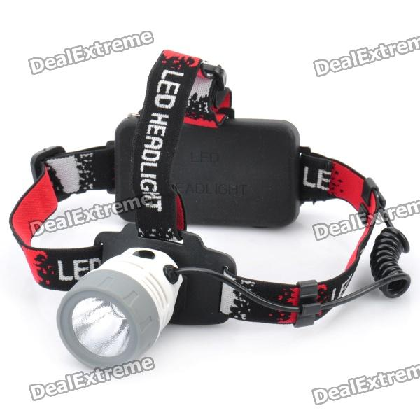 NEW-6531 310-Lumen 3-Mode White LED Headlamp - Gray + White (1 x 18650)