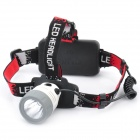 NEW-6531 Cree Q5 310-Lumen 3-Mode White LED Headlamp - Gray + White (1 x 18650)