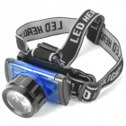 Retractable 3W 4.5V 170LM LED White Light Zoom Headlight - Black + Blue (3 x AAA)