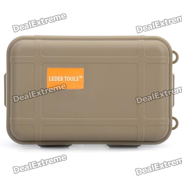 Hard Silicone Tool Storage Box - Coyote Tan box aluminium tool case magic props file storage hard carry carrying box tool for hand gun locking pistol 46 35 15cm