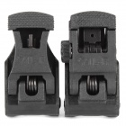 A.R.M.S. Folding Tactical Front & Rear Sights - Black (Pair)