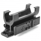 Aluminum Alloy Fishbone Gun Sight Scope Mount Base for MP5 - Black